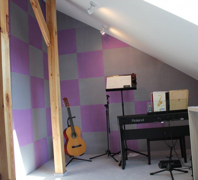 domowe studio muzyczne- wygłiszenie ścian